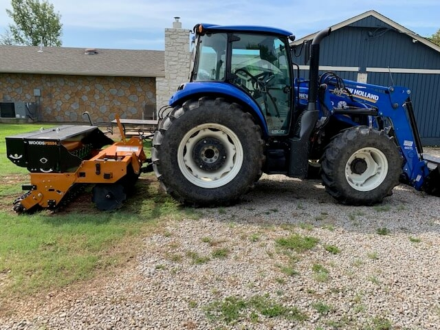 Drill Seeding New Holland Tractor